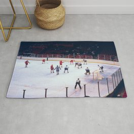 Vintage Ice Hockey Match Rug