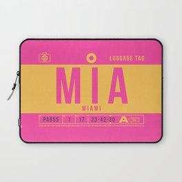 Luggage Tag B - MIA Miami USA Laptop Sleeve