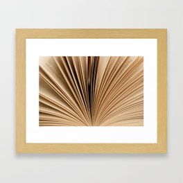 Book Fan Framed Art Print