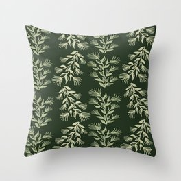 blurry floral shades Throw Pillow