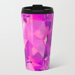 FUCHSIA PINK TOURMALINE FACETED GEMS  ART Travel Mug