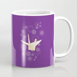 Paper Crane and Cherry Blossoms Coffee Mug