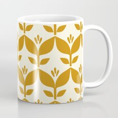 Golden retro tulip floral Mug