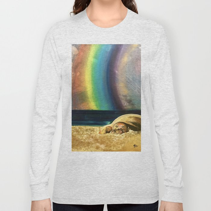 Sleepy Seal on the Beach Long Sleeve T-shirt