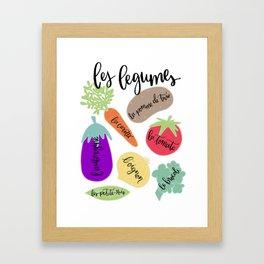 Les Legumes Framed Art Print