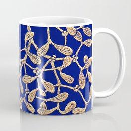 Mistletoe Blue Coffee Mug