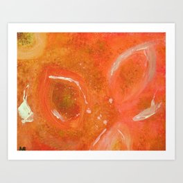 """""""Orange-Glowing Orbs"""" Art Print"""