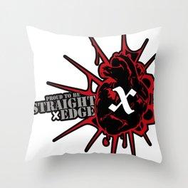 Strage Edge Heart Throw Pillow