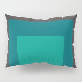 Block Colors - Browns and Teals Pillow Sham