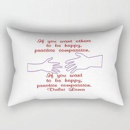 Compassion - Dalai Lama - Corvid-19 - Breathe  Rectangular Pillow