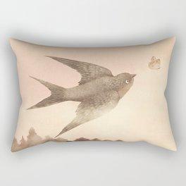 Sunset Swallow Rectangular Pillow
