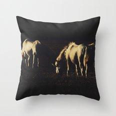 Horses Throw Pillow