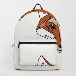 Geometric Fox - Abstract, Animal Design Backpack