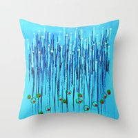 martini Throw Pillows featuring :: Blue Martini :: by :: GaleStorm Artworks ::