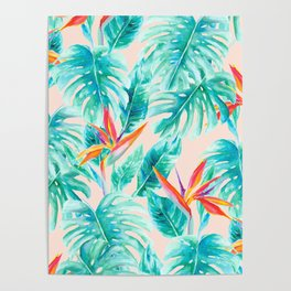 Tropical Paradise Pale Peach Poster