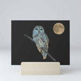 Owl, See the Moon (Barred Owl) Mini Art Print