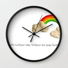 rainbows & poops Wall Clock