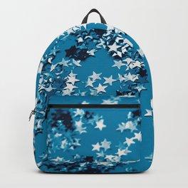 Blue Ocean Glitter Stars #1 #shiny #decor #art #society6 Backpack