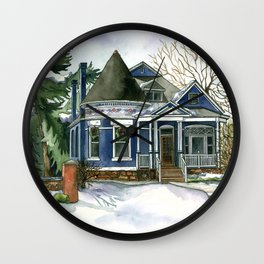 Winter Blues Wall Clock
