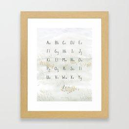 A Quiet Meadow Printed Alphabet Framed Art Print