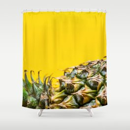 Pineapple on the Yellow Shower Curtain