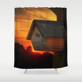 PLEASE COME HOME Shower Curtain