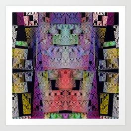 The Escher Factor, modern fractal abstract Art Print