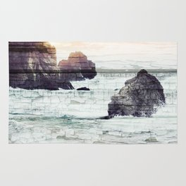 ocean beach driftwood Rug