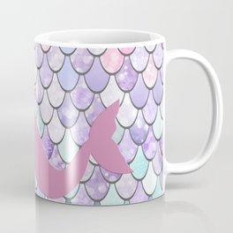 Mermaid Silhouette, Pastel Pink, Purple, Teal Coffee Mug