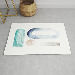 modern minimal studies of shape / agate abstract Rug