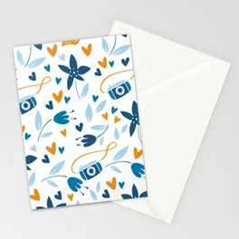 floral & photo Stationery Cards