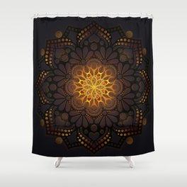 """""""Warm light Moroccan lantern Mandala"""" Shower Curtain"""