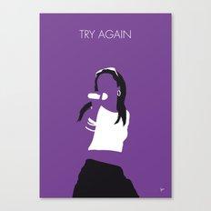 No071 MY Aaliyah Minimal Music poster Canvas Print