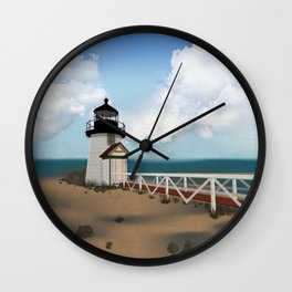 Brant Point Light Wall Clock