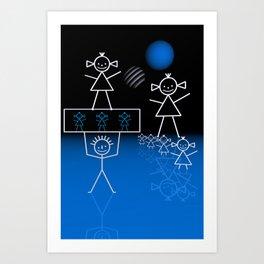 stick figures -30- Art Print