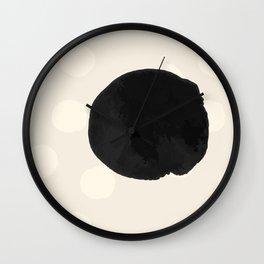 Ink Blots - black Wall Clock
