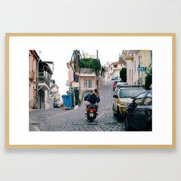 greek romance Framed Art Print