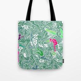 Body Map - Sea Green Tote Bag