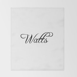 Watts Throw Blanket