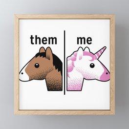 THEM - ME Framed Mini Art Print