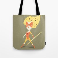 thundercats Tote Bags featuring Cheetara  by Rod Perich