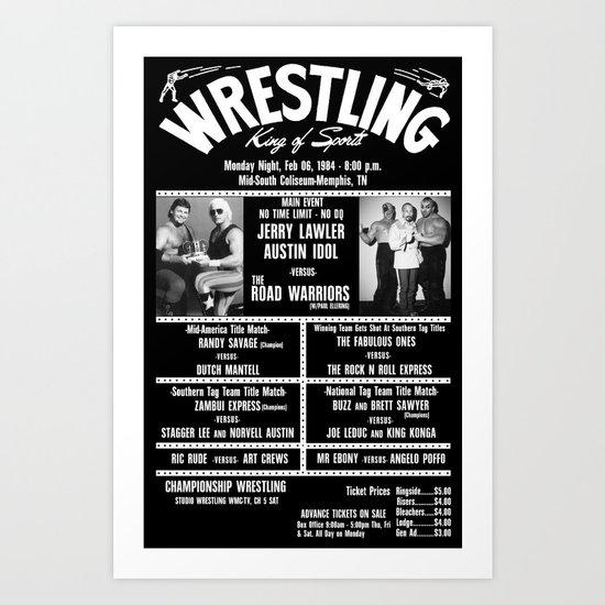 #11-B Memphis Wrestling Window Card Art Print