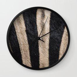 Zebra Fur Wall Clock