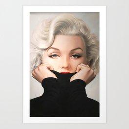 Marily-n Monroe Vintage fashion print Art Print