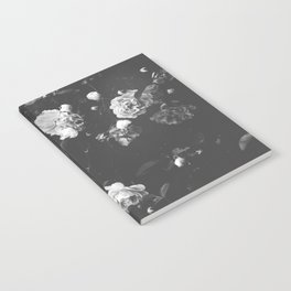 Spring Roses in Bloom Black and White Photography Notebook
