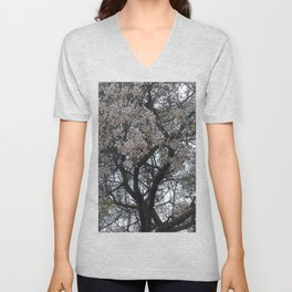 Blooming Tree Branches Spring Flowers Unisex V-Neck