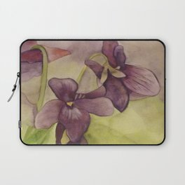 Lily Watercolor Painting Laptop Sleeve
