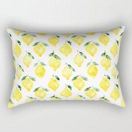 Sicilian lemons || watercolor Rectangular Pillow