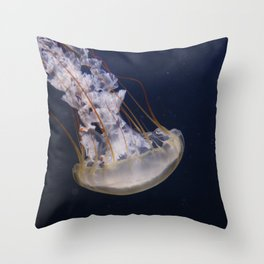 Jellyfish in the Dark Throw Pillow