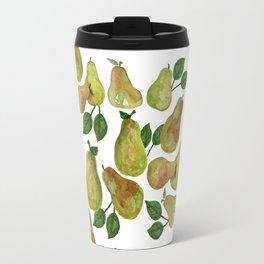Watercolor Pears - repeat pattern Travel Mug